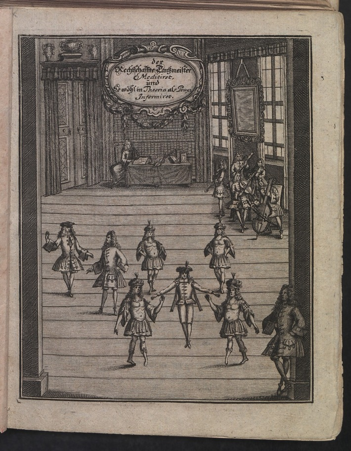 """Der """"Ahnherr"""" aller Tanzlehrenden schrieb schon im Jahr 1717, was und wie ein """"rechtschaffender Tantzmeister"""" unterrichten sollte. Foto: Universitätsbibliothek Leipzig"""