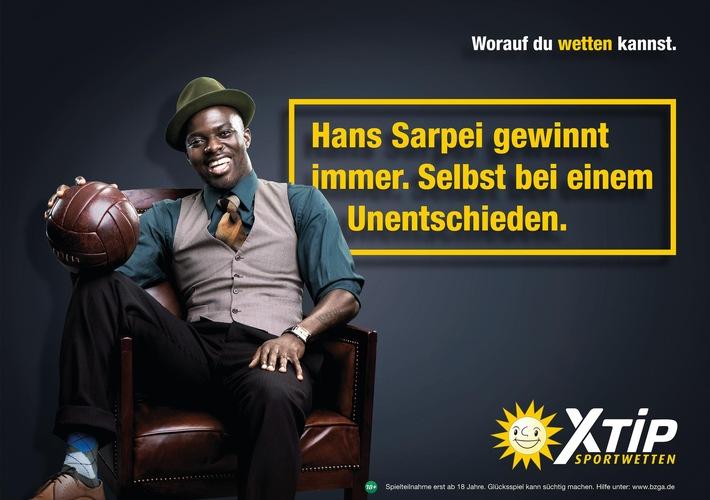 """XTiP gewinnt Hans Sarpei als Markenbotschafter / Neue Sportwett-Kampagne: """"Worauf du wetten kannst!"""""""