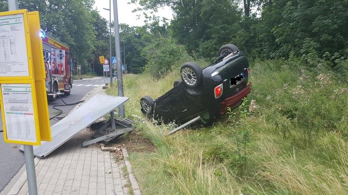 Verkehrsunfall, Ludwig-Erhard-Allee, 16.07.2017, Chr. Schell