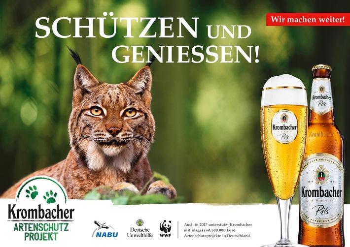 Wir machen weiter! Krombacher Artenschutz-Projekt 2017 startet