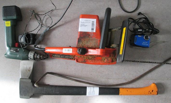 Werkzeuge (Quelle: Polizei)