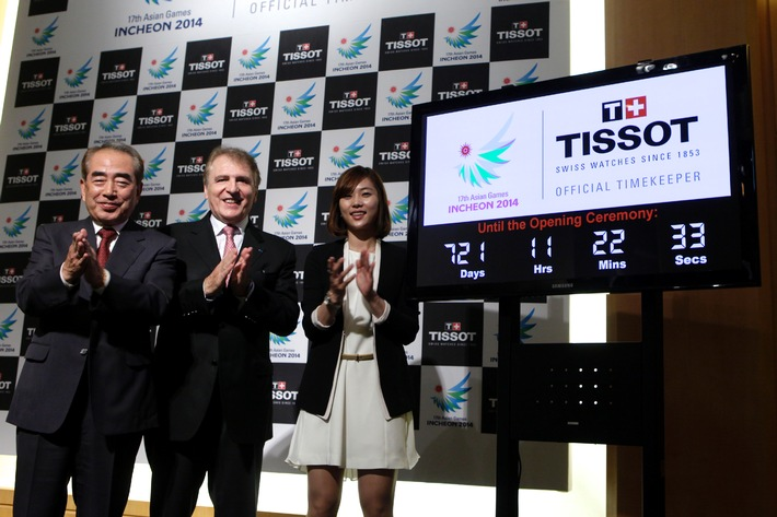 Tissot, Official Timekeeper of the 17th Asian Games Incheon 2014