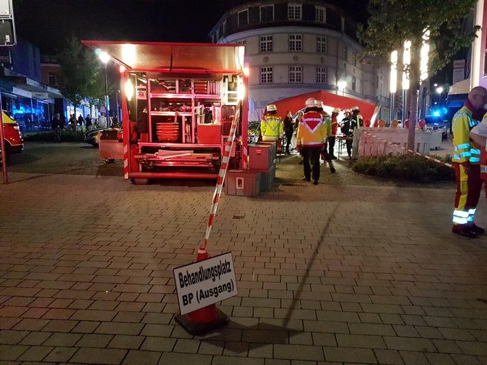 FW Mettmann: Verletzte beim Reizgsangriff auf dem Heimatfest
