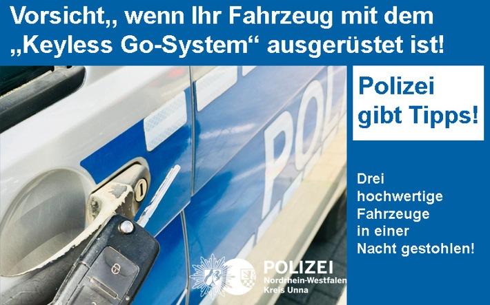 """Präventionstipps der Polizei zum Thema """"Keyless Go"""""""