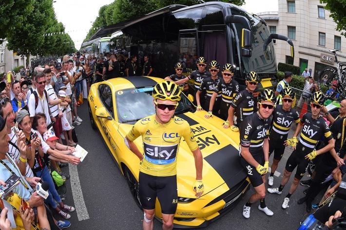 Ford feiert den Tour de France-Sieg mit Christopher Froome und Team Sky
