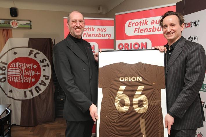 Erste Liga: Orion bleibt offizieller Partner des FC St. Pauli (mit Bild)