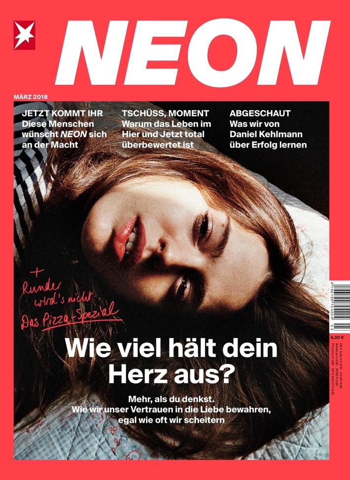 """NEON_03_18. Weiterer Text über ots und www.presseportal.de/nr/53006 / Die Verwendung dieses Bildes ist für redaktionelle Zwecke honorarfrei. Veröffentlichung bitte unter Quellenangabe: """"obs/Gruner+Jahr, NEON"""""""