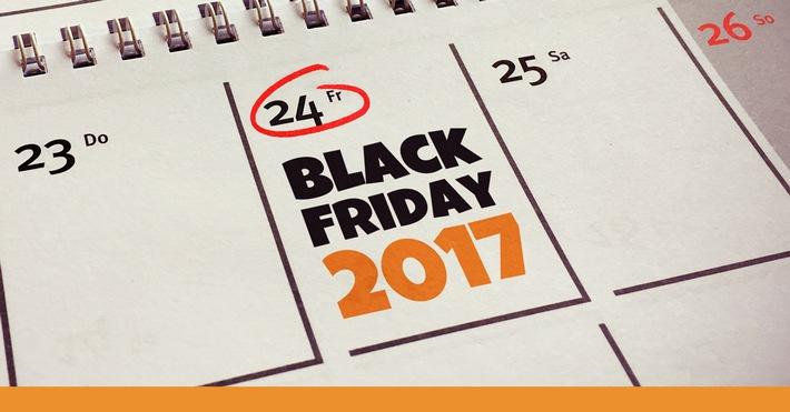 """Mehr als 2,2 Millionen User informieren sich auf Black Friday.de über den Black Friday 2017 und die Angebote der Händler! / Black Friday 2017 Fazit - Black-Friday.de. Weiterer Text über ots und www.presseportal.de/nr/111552 / Die Verwendung dieses Bildes ist für redaktionelle Zwecke honorarfrei. Veröffentlichung bitte unter Quellenangabe: """"obs/Black-Friday.de"""""""