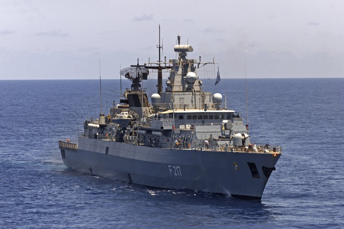 """Fregatte """"Bayern"""" wird Flaggschiff bei der Operation """"Atalanta"""""""