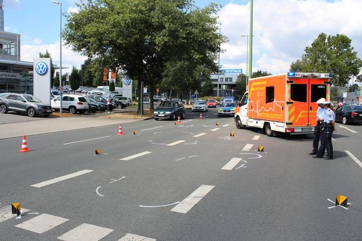 Die Unfallstelle auf der Weststraße