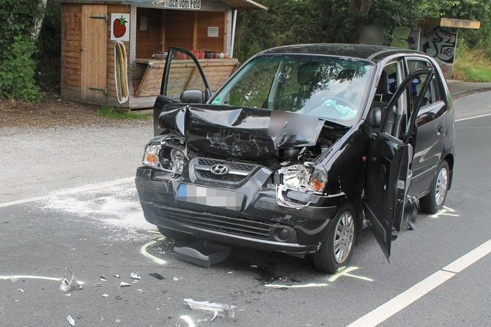 Fahrzeug der schwer verletzten Dame