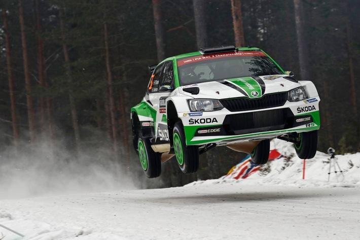 Rallye Schweden: SKODA Motorsport will den Vorjahreserfolg wiederholen (FOTO)