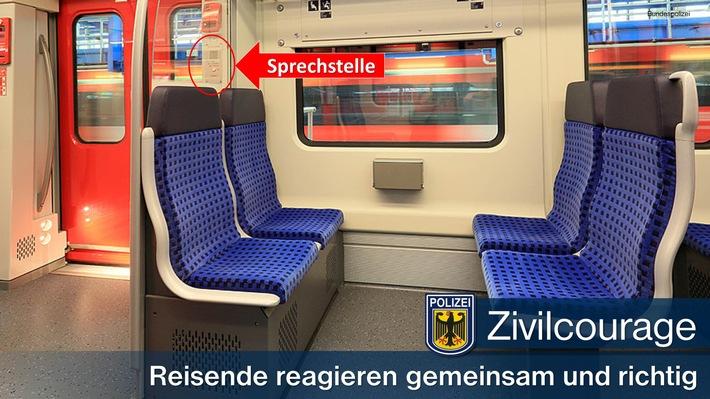 (Symbolbild Bundespolizei) Über die Sprechstelle an den S-Bahn-Türen kann man direkt mit dem Triebfahrzeugführer in Kontakt treten.