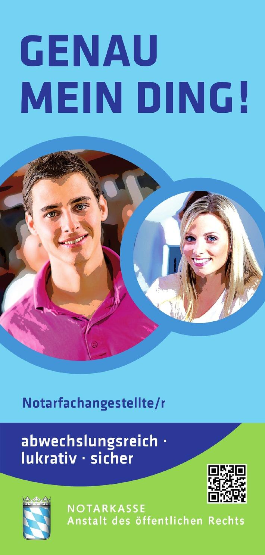 Beim Beraten und Gestalten helfen: Azubi beim Notar / Ausbildungsinitiative der Notarkammern des hauptberuflichen Notariats (BILD)