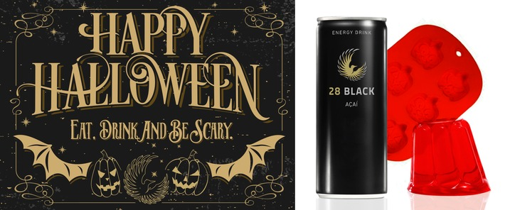 Eat, drink and be scary - Halloween feiern mit 28 BLACK