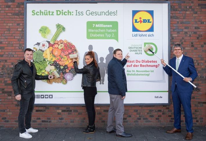 Lidl und die Deutsche Diabetes-Hilfe informieren mit bundesweiter Plakataktion zum Weltdiabetestag