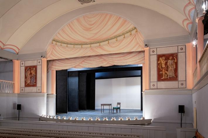 Goethe-Theater in Bad Lauchstädt / Weiterer Text über ots und www.presseportal.de/nr/157804 / Die Verwendung dieses Bildes ist für redaktionelle Zwecke unter Beachtung ggf. genannter Nutzungsbedingungen honorarfrei. Veröffentlichung bitte mit Bildrechte-Hinweis.
