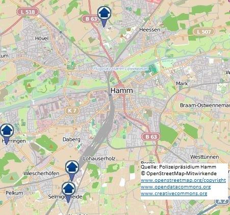 Wohnungseinbruchs-Radar vom 09.04.18 bis zum 15.04.18