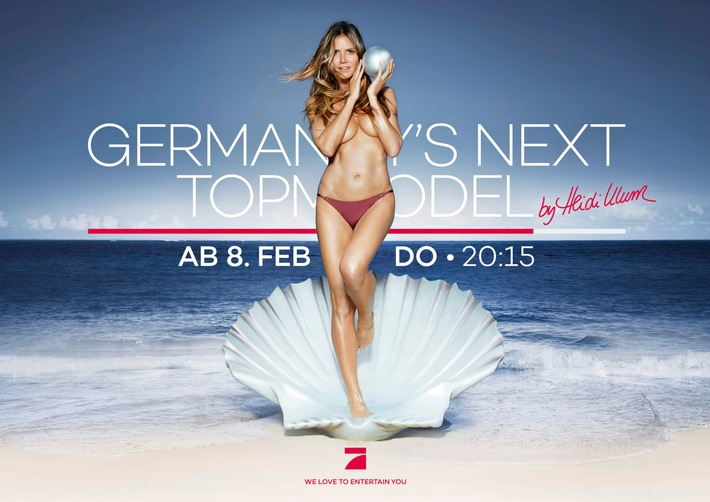 "Welcome to Paradise - Star-Fotograf Rankin shootet das Kampagnenmotiv zu ""Germany's next Topmodel - by Heidi Klum"""