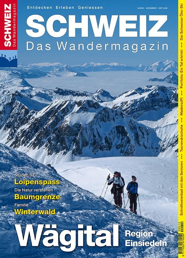 """Das Wägital gilt als Zürcher Ausflugs- und Erholungsgebiet Nummer Eins. Wandern, Biken, Fischen, Baden, aber auch der Wintersport mit Ski- und Schneeschuhtouren sind hier gross «im Geschäft». Die Dezemberausgabe des Wandermagazins SCHWEIZ zeigt, wie der Stausee entstanden ist und wie man das Gebiet bis hinüber zum «Matterhorn der Wanderer» zu allen Jahreszeiten am besten erkundet. Die Ausgabe «Wägital -Einsiedeln» des Wandermagazin SCHWEIZ ist ab sofort an allen grossen Kiosken oder direkt beim Rothus Verlag erhältlich (Preis CHF 14.80). www.wandermagazin.ch, wandermagazin@rothus.ch, Tel. 032 626 40 29. Weiterer Text über ots und www.presseportal.ch/de/nr/100003502 / Die Verwendung dieses Bildes ist für redaktionelle Zwecke honorarfrei. Veröffentlichung bitte unter Quellenangabe: """"obs/Wandermagazin SCHWEIZ"""""""