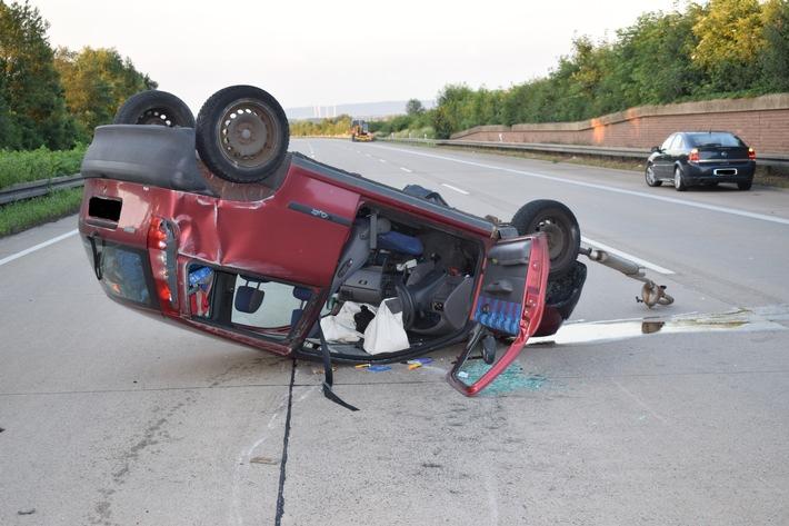 Das Fahrzeug des Verunfallten.