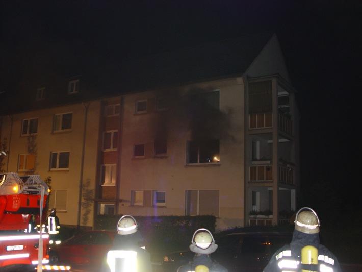 FW-E: Wohnungsbrand in Huttrop