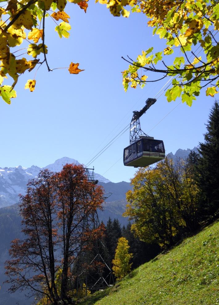 Schilthorngebiet - Bergerlebnis pur / Herbstausflug mit atemberaubender 360-Grad-Panoramasicht