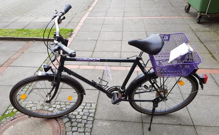Die Polizei sucht den Eigentümer dieses schwarzen Herrensportrads der Marke Heidemann, Typ Mont Cenis.