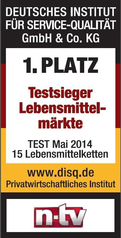 """Kaufland ist """"Bester Lebensmittelmarkt 2014"""""""