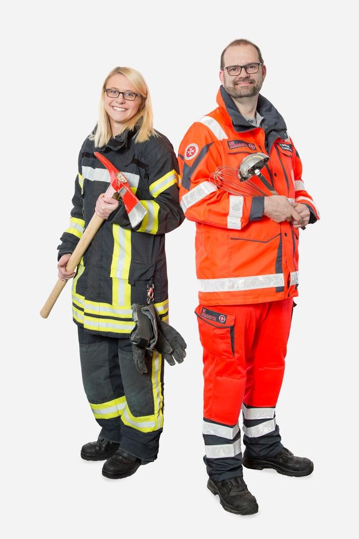 Symbolfoto: Zusammenarbeit von Feuerwehr und der Johanniter-Unfall-Hilfe e. V.
