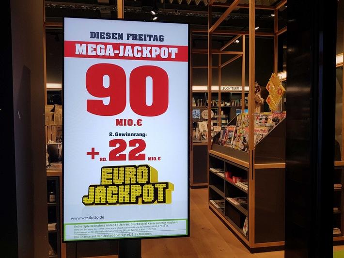 """Der 90-Millionen-Euro-Jackpot bei der Lotterie Eurojackpot wurde heute geknackt. Weiterer Text über ots und www.presseportal.de/nr/107909 / Die Verwendung dieses Bildes ist für redaktionelle Zwecke honorarfrei. Veröffentlichung bitte unter Quellenangabe: """"obs/Eurojackpot/Bodo Kemper"""""""
