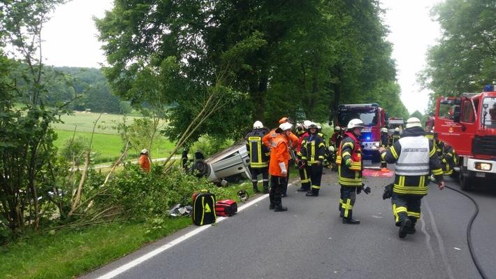 POL-HM: Verkehrsunfall mit schwer verletzter Person