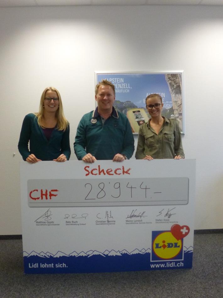 Lidl Schweiz spendet CHF 28'944 an die Greenfield Festival Foundation (BILD)