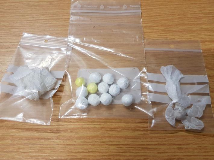 Kügelchen mit Heroin