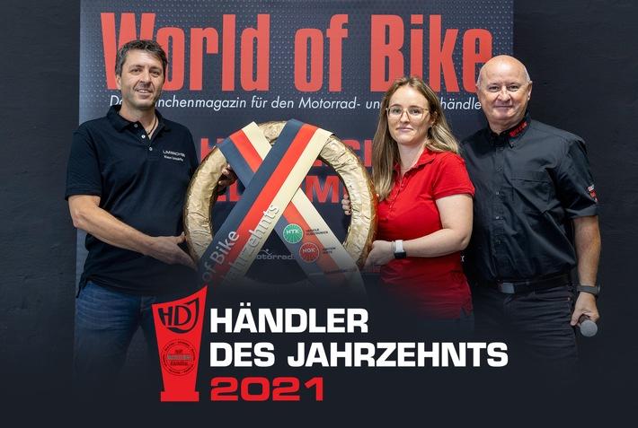 """Limbächer ist """"World of Bike - Händler des Jahrzehnts 2010-2020"""""""