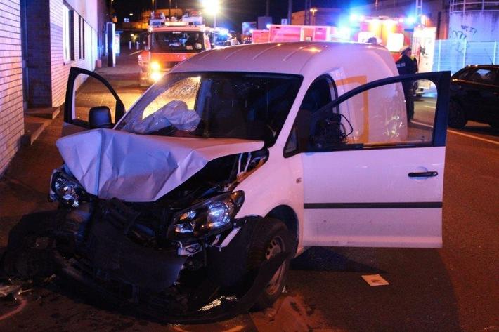 Foto Verkehrsunfall Eckeseyer Straße 07.04.2018 Polizei Hagen