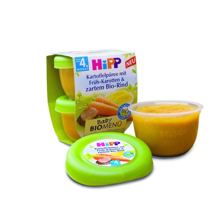 Weltneuheit von HiPP: Bio-Babykost kommt in neuer Optik
