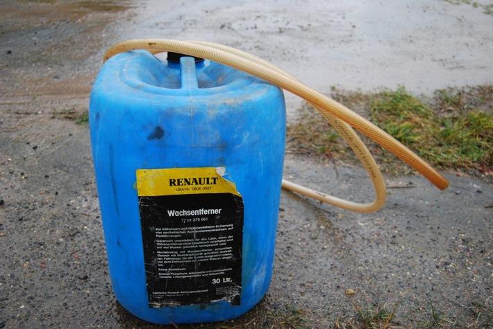 POL-HI: - 31008 Elze - Diebstahl von Dieselkraftstoff