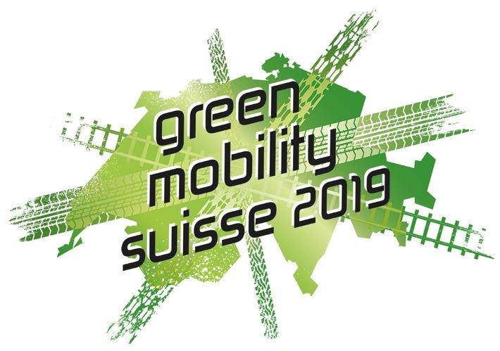 """Das Logo der neuen Green Mobility Suisse 2019. Weiterer Text über ots und www.presseportal.ch/de/nr/100065203 / Die Verwendung dieses Bildes ist für redaktionelle Zwecke honorarfrei. Veröffentlichung bitte unter Quellenangabe: """"obs/Green Mobility Suisse"""""""