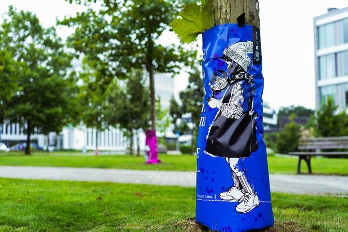 #artfortrees: Design der Street-Art-Künstlerin Strassenmaid / Weiterer Text über ots und www.presseportal.de/nr/69289 / Die Verwendung dieses Bildes ist für redaktionelle Zwecke unter Beachtung ggf. genannter Nutzungsbedingungen honorarfrei. Veröffentlichung bitte mit Bildrechte-Hinweis.