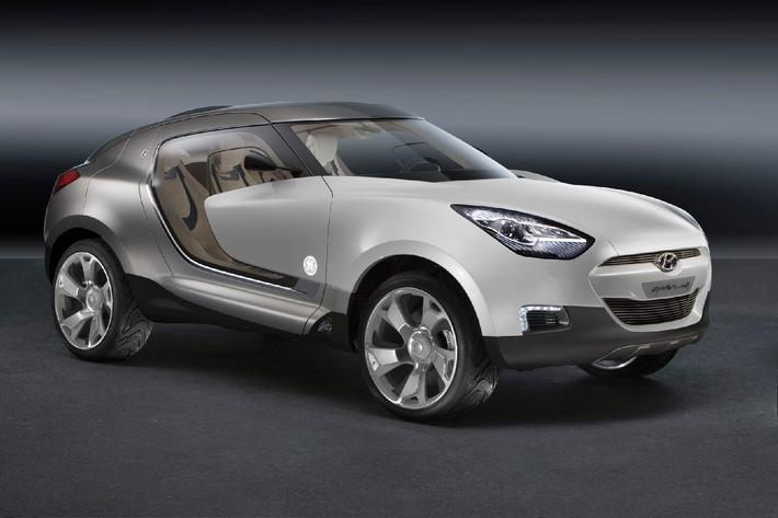 Hyundai und GE Plastics stellen auf dem 77. Automobilsalon in Genf das ATDV QarmaQ vor