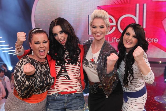 Erfolgreiche POPSTARS-Staffel: Julia, Katrin, Meike und Sarah sind LaViVe (mit Bild)