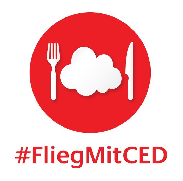 Unter #FliegMitCED fordert Takeda CED-freundliche Mahlzeiten in Flugzeugen