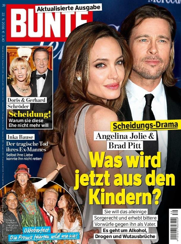 BUNTE bringt aktualisierte Ausgabe zum Brangelina-Aus