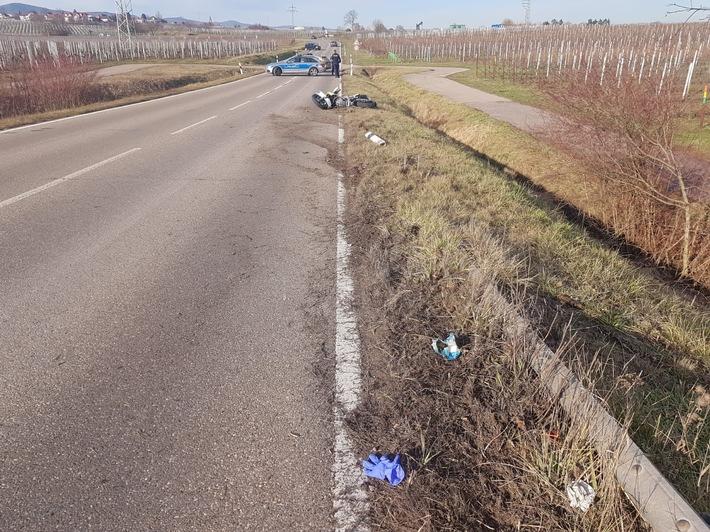 Tödlicher Verkehrsunfall bei Landau