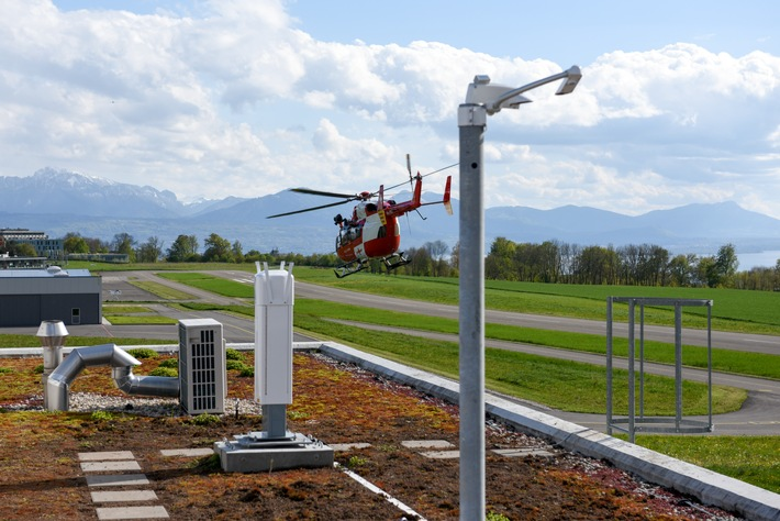 Wetterstation Rega-Basis Lausanne-Blécherette / Weiterer Text über ots und www.presseportal.ch/de/nr/100021535 / Die ...