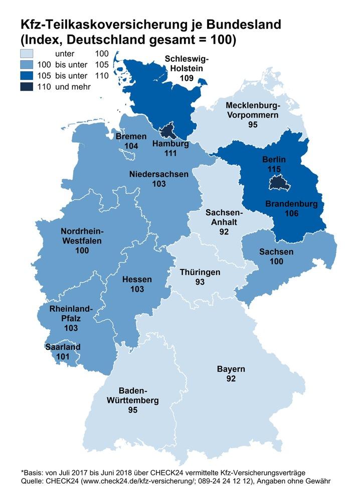 """Berlin und Hamburg sind die deutschen Hochburgen für Pkw-Diebstahl. CHECK24-Kunden aus den beiden Stadtstaaten schließen im Bundeslandvergleich am häufigsten eine Kfz-Teilkaskoversicherung ab. Weiterer Text über ots und www.presseportal.de/nr/73164 / Die Verwendung dieses Bildes ist für redaktionelle Zwecke honorarfrei. Veröffentlichung bitte unter Quellenangabe: """"obs/CHECK24 GmbH"""""""