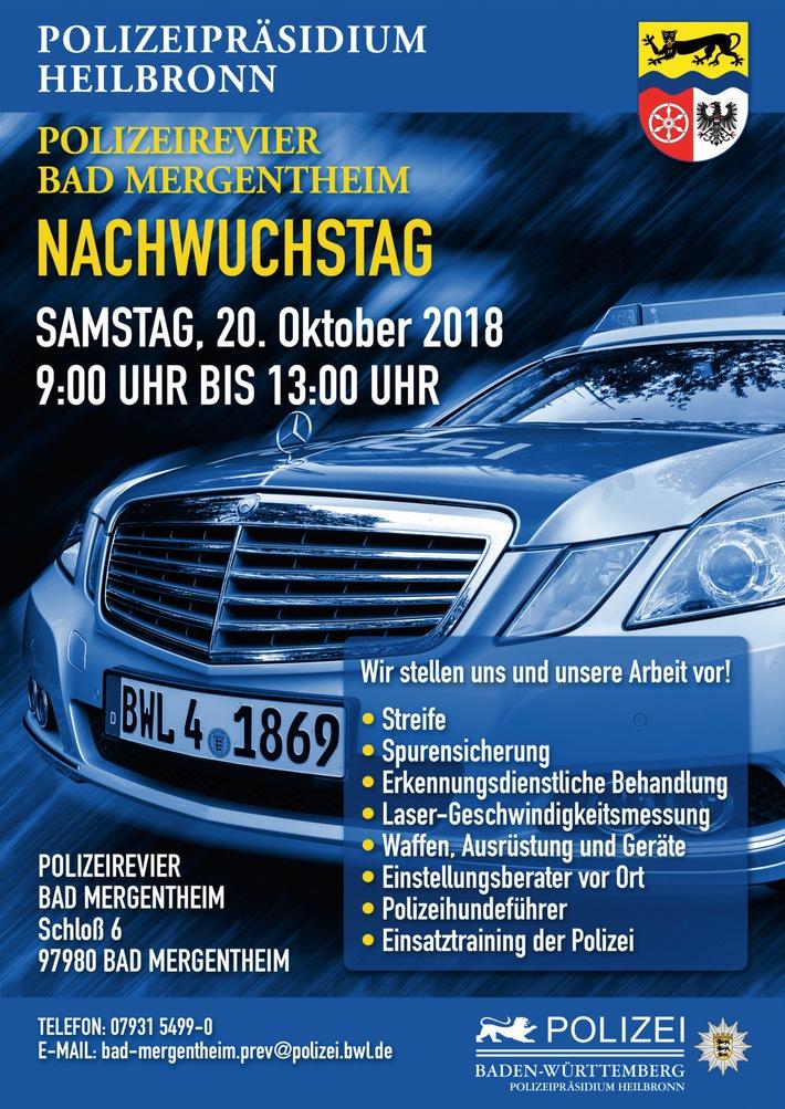 Am Samstag, 20. Oktober 2018, ladt das Polizeirevier Bad Mergentheim zum Nachwuchstag ein.