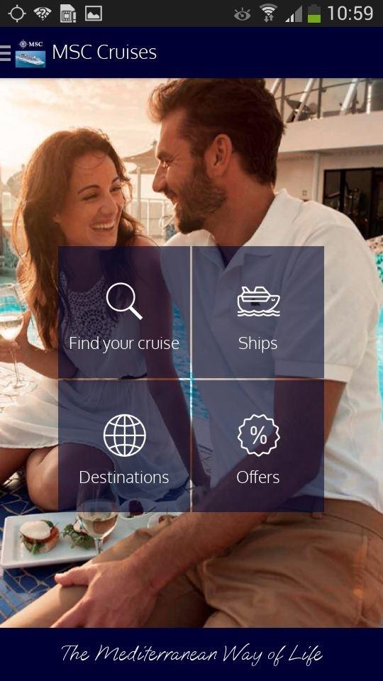 MSC Cruises lanciert App / Die Applikation beinhaltet die wichtigsten Informationen zu Routen und Schiffen (BILD)
