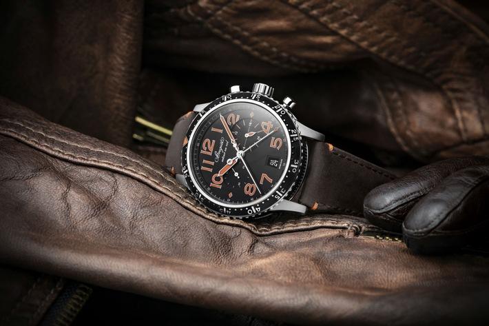 Betont sportlich: der Fliegerchronograph Type XXI 3815TIHO3ZU von Breguet im Titan-Gehäuse ist mit der Flyback-Funktion ausgestattet. Die großen Ziffern, die Indizes und Zeiger sind lumineszierend und wahlweise grün oder orange. UVP 14.400,00 Euro inkl. 19% MwSt. (je Version limitiert auf 250 Stück) / Uhr, Zeitmesser, Breguet, Type XXI, Chronograph, Fliegeruhr, mechanische Uhr, Uhrmacherkunst / 17.06.2021 / Weiterer Text über ots und www.presseportal.de/nr/156584 / Die Verwendung dieses Bildes ist für redaktionelle Zwecke unter Beachtung ggf. genannter Nutzungsbedingungen honorarfrei. Veröffentlichung bitte mit Bildrechte-Hinweis.